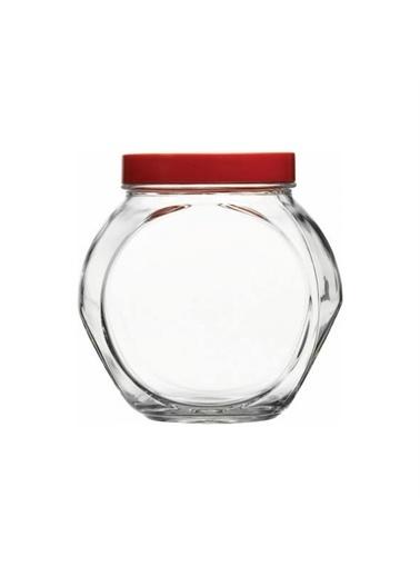 Paşabahçe Paşabahçe Kapaklı Kavanoz Kırmızı 80002 Renkli